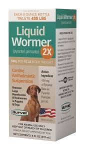 LIQUID WORMER 2X DOG 8oz DURVET