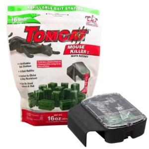 TOMCAT MOUSE KILLER REFILLABLE 16X1OZ W/ BAIT BOX