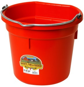 20 Qt Flat Back Bucket (Red)