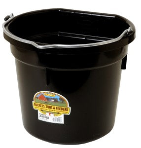 20 Qt Flat Back Bucket (Black)