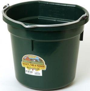20 Qt Flat Back Bucket (Dark Green)