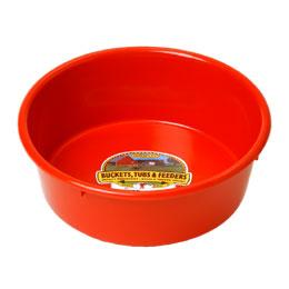 5 QT Plastic Pan (Red)