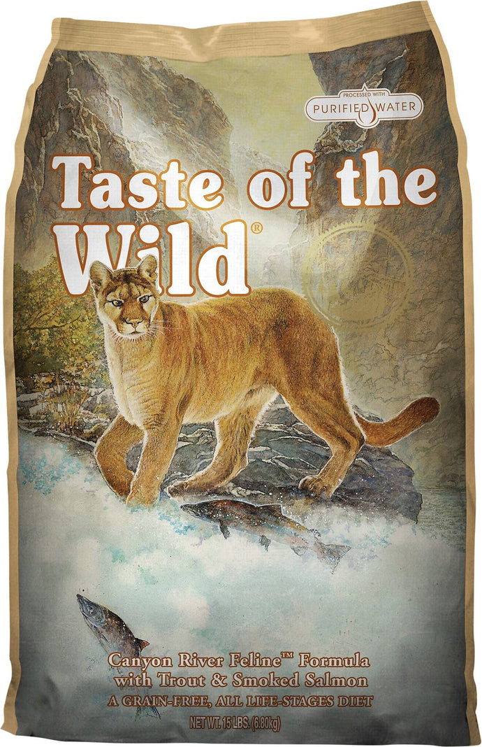 Taste of the Wild Canyon Rvr Feline 15#