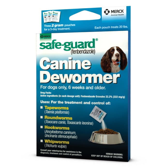 Safeguard Canine Dewormer 2gm 20# (Blue)