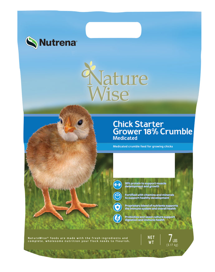 NatureWise Chick Starter 7LB (Medicated)