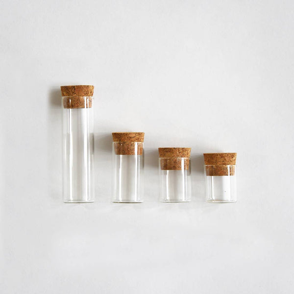 LARGE Specimen Bottles with Cork (10 pcs)
