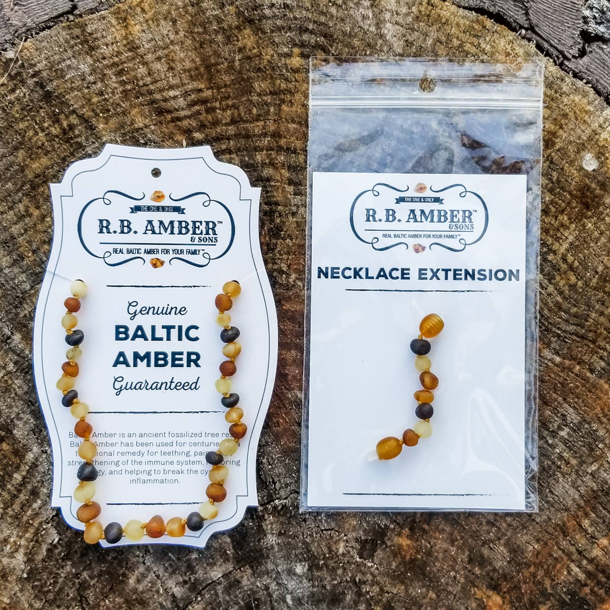 "Kids | ""Grow With Me"" Baltic Amber Necklace Set"