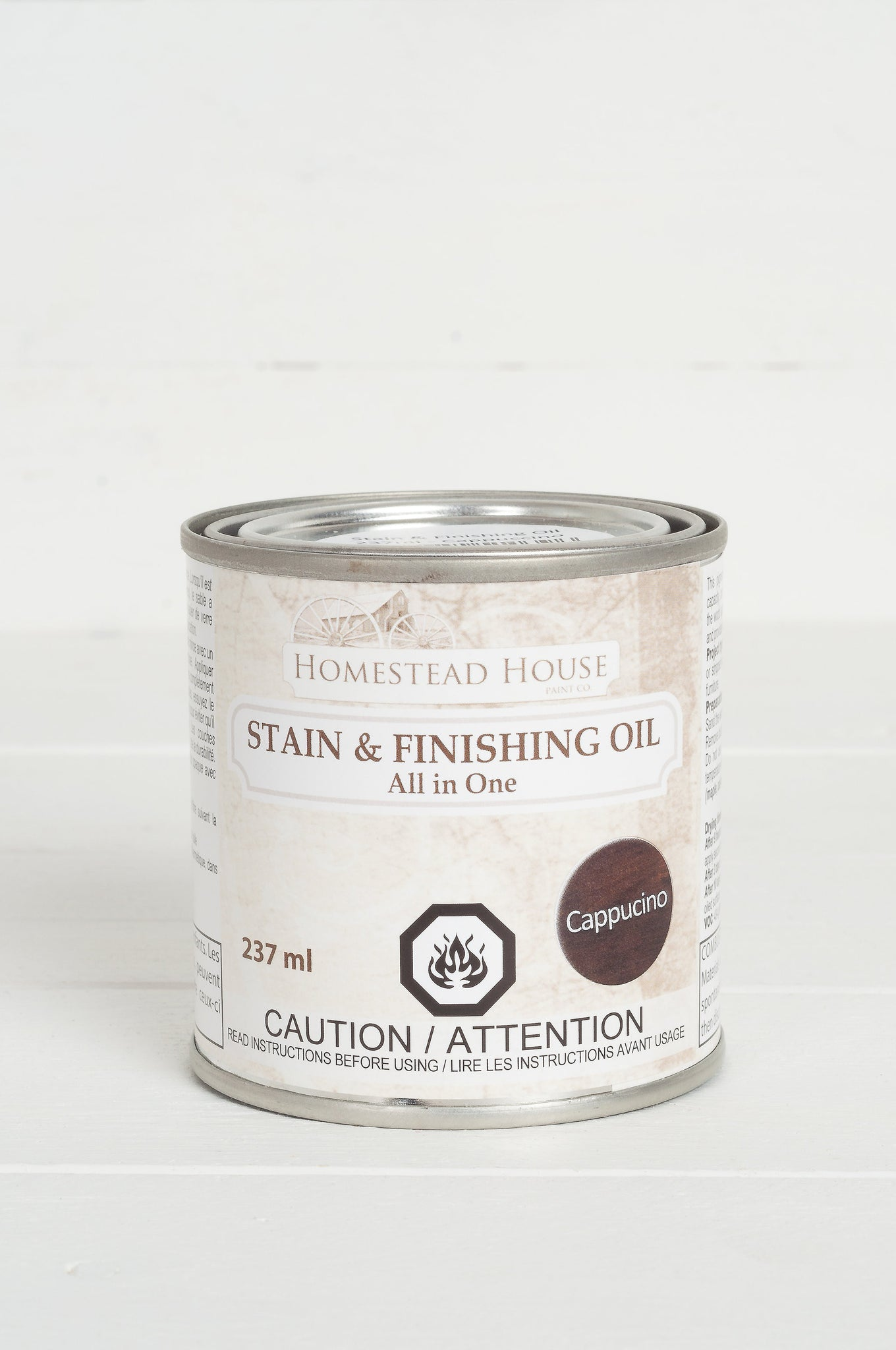 Fusion Mineral Paint Homestead House Stain and Finishing Oil Cappucino