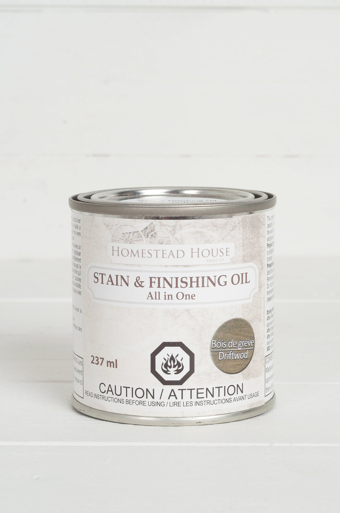 Fusion Mineral Paint Homestead House Stain and Finishing Oil Driftwood