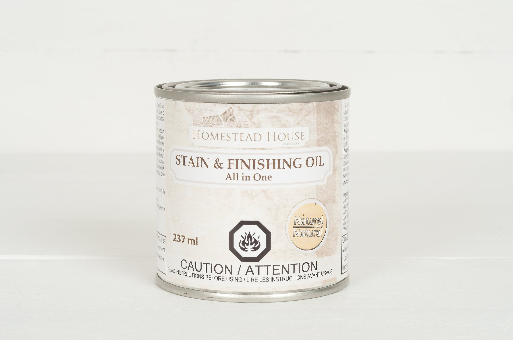 Fusion Mineral Paint Homestead House Stain and Finishing Oil Natural