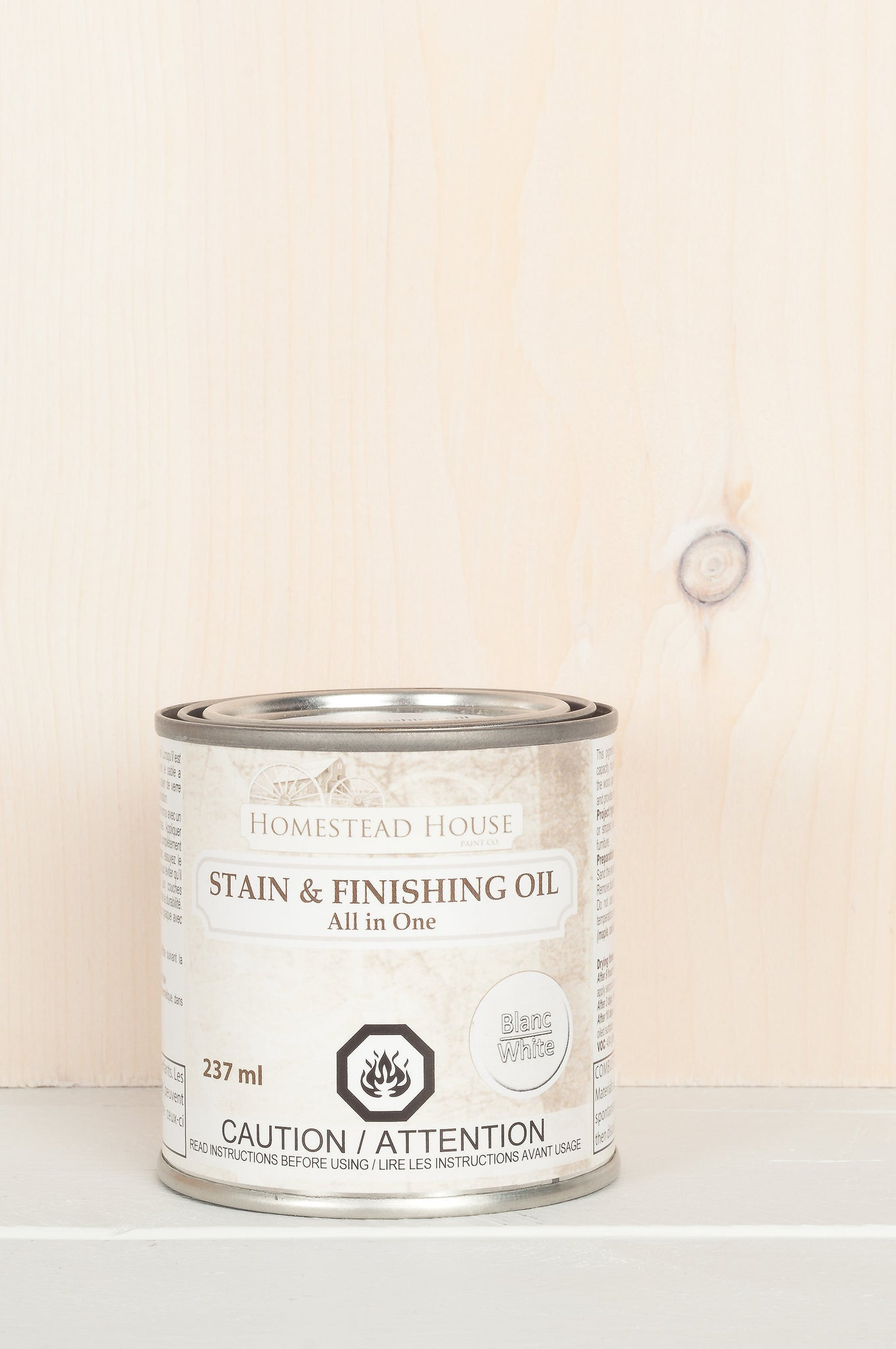 Fusion Mineral Paint Homestead House Stain and Finishing Oil White