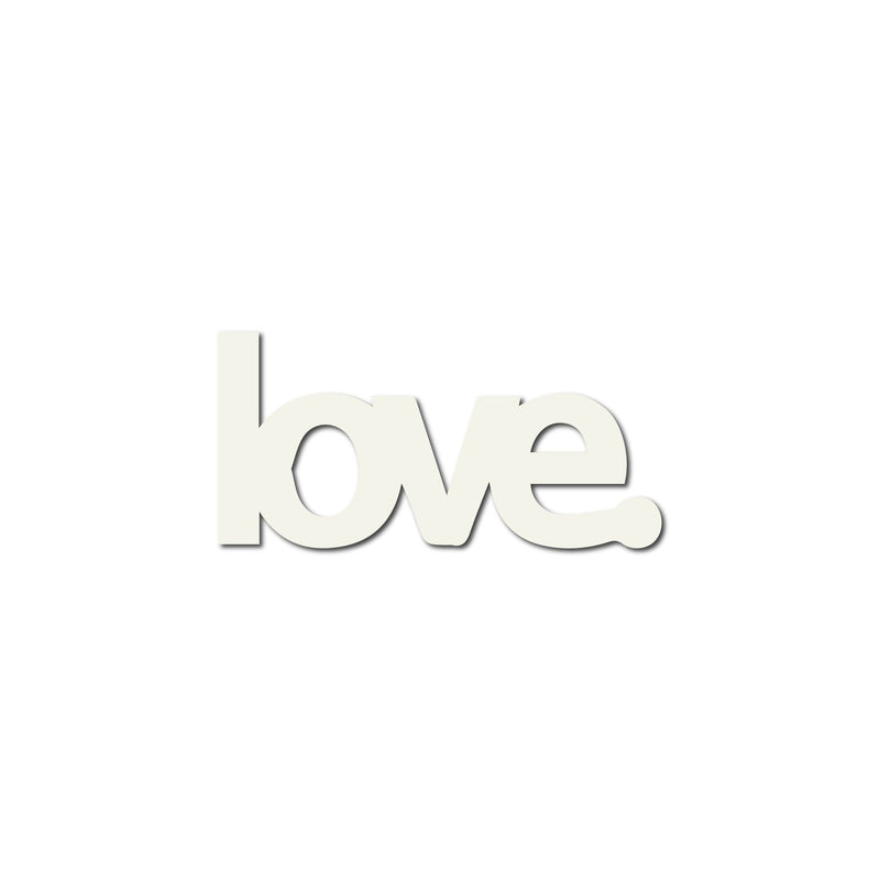 Real Wood Silhouette Love. Magnet White