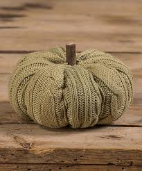 "4"" SAGE KNIT PUMPKIN"