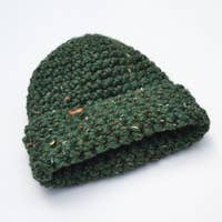 Thick Knit Beanie / KALE