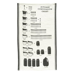 Cotton Tea Towel w/ Kitchen Conversion Chart