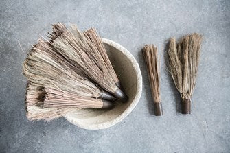 Found Decorative Wood & Metal Handheld Broom (Each One Will Vary)