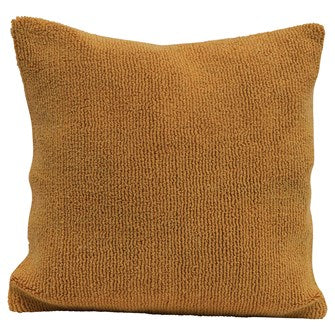 Square Cotton Terry Pillow - MUSTARD