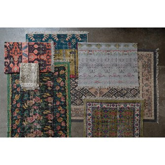 Woven Cotton Printed Rug - MULTICOLOR - 4x6
