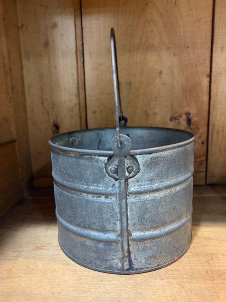Vintage Tin Pail/Berry Bucket
