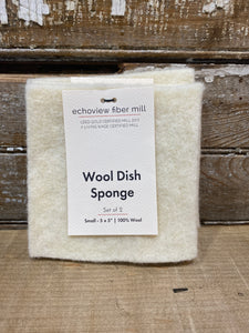Echoview Fiber Mill  - Wool Dish Sponge - Small 5 x 5