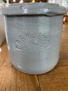 Vintage Grey Glazed Stoneware Jar