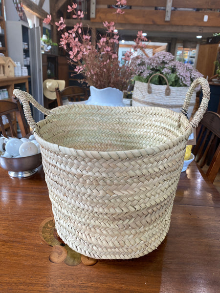 Hand Woven Moroccan Basket w/ Handles