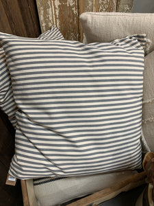 "Cotton Striped Pillow - 24"" Square"