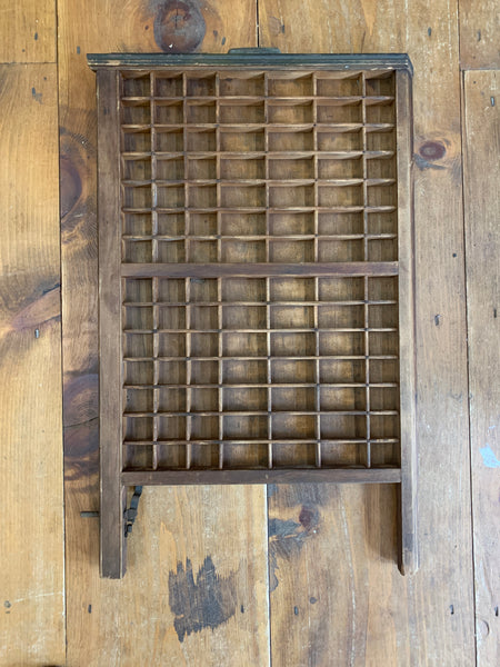 Vintage LUDLOW Letterpress Printers Type Box Drawer Tray Shadowbox or Display