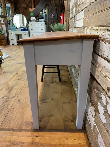 Vintage Three Station School/Library Desk/Table