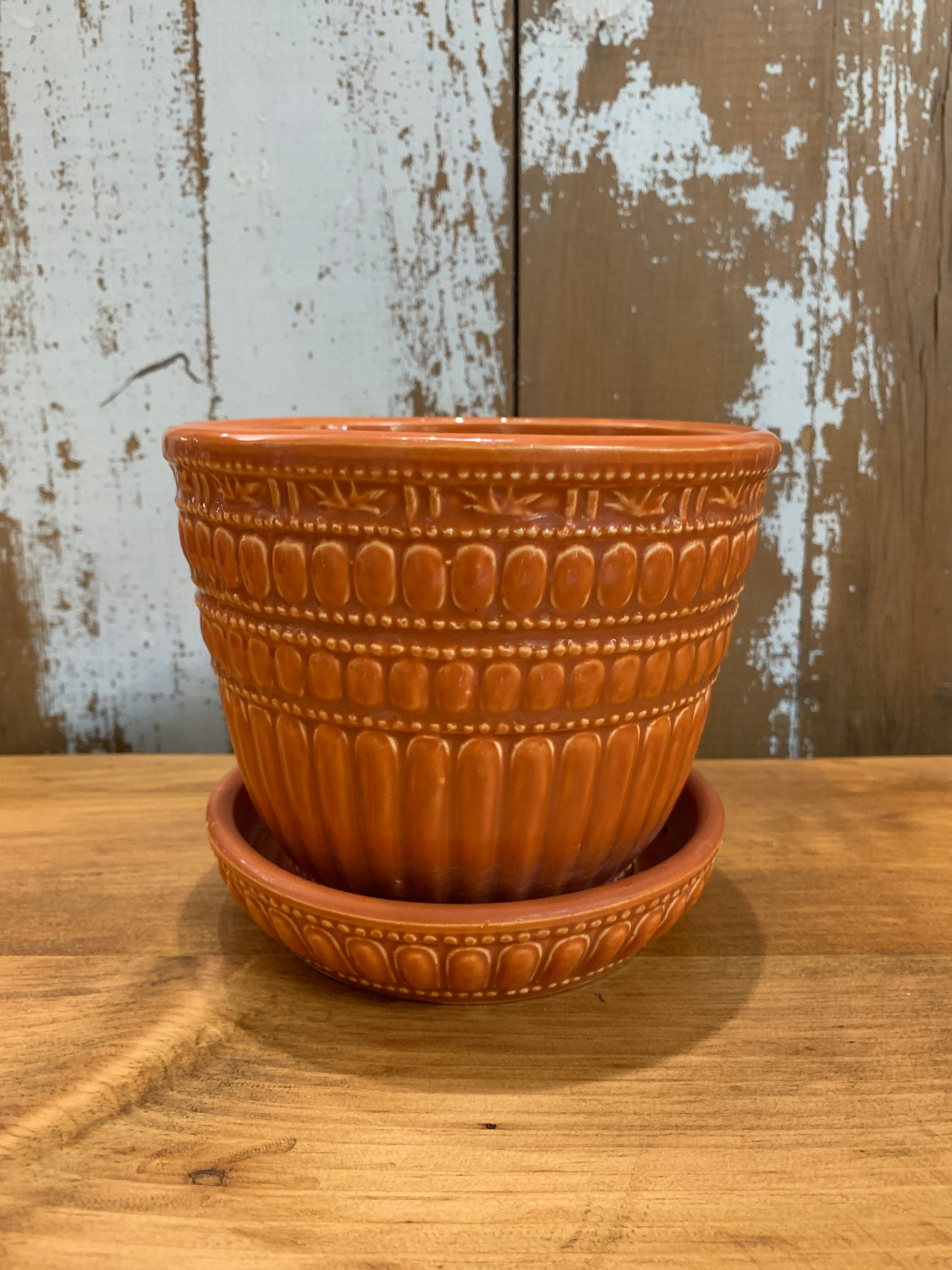 Vintage Orange McCoy Planter
