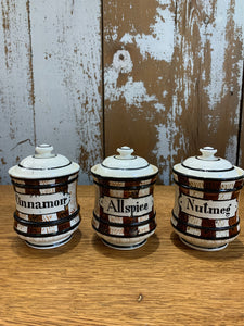 Vintage Set of 3 Spice Jars