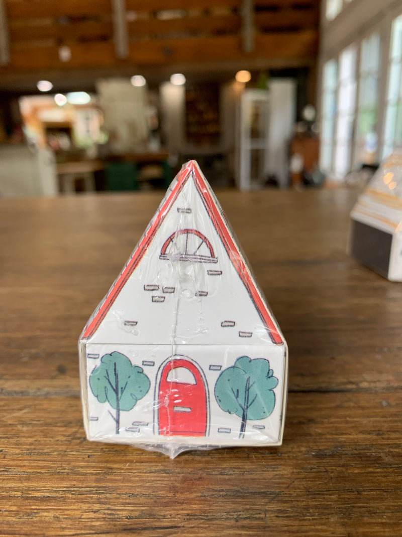 "2-1/4""L House Shaped Matchbox w/ Safety Matches, 3 Styles"