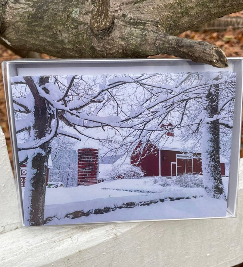 """Red, White, & Barn"" Card"