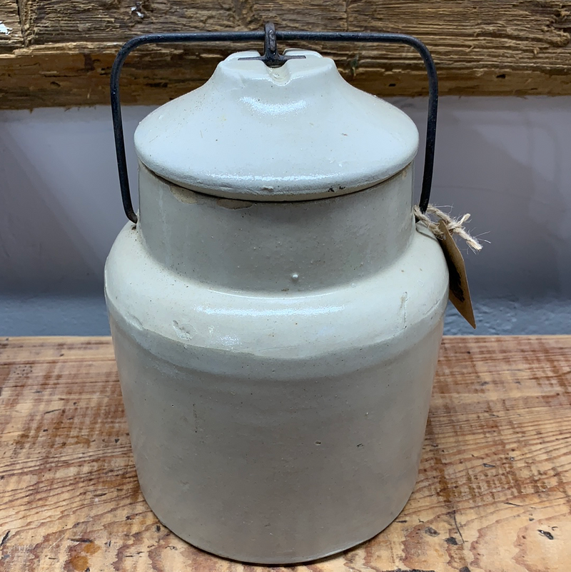 Vintage Crock with snap on Lid