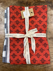"Cotton Tea Towel Set - 28"" x 18"""