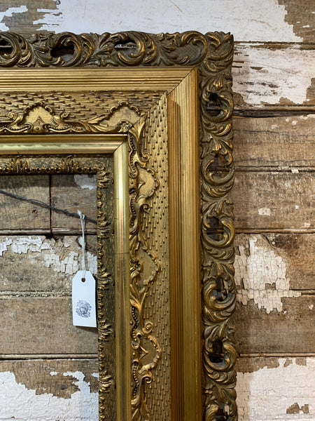Antique Wooden Frame - Original Gold Paint