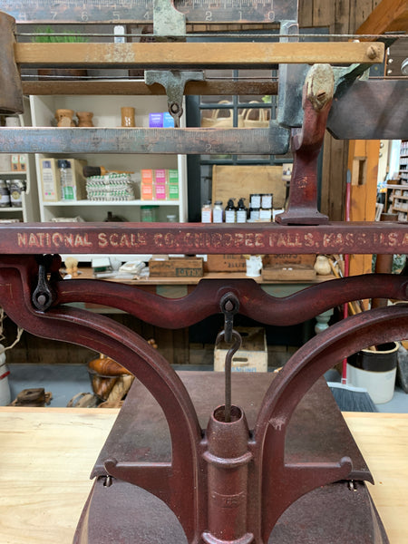 Antique National Scale Company Countertop Shop Scale