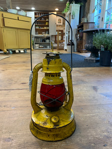 Vintage Dietz Yellow No. 100 P.S.E. & G Railroad Lantern