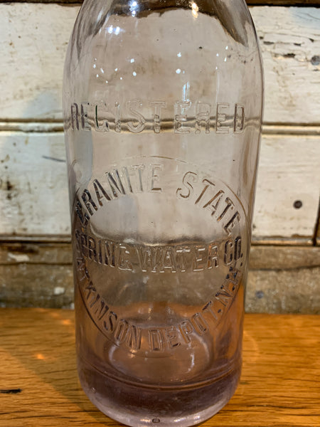 Vintage Granite State Spring Water Co. NH.