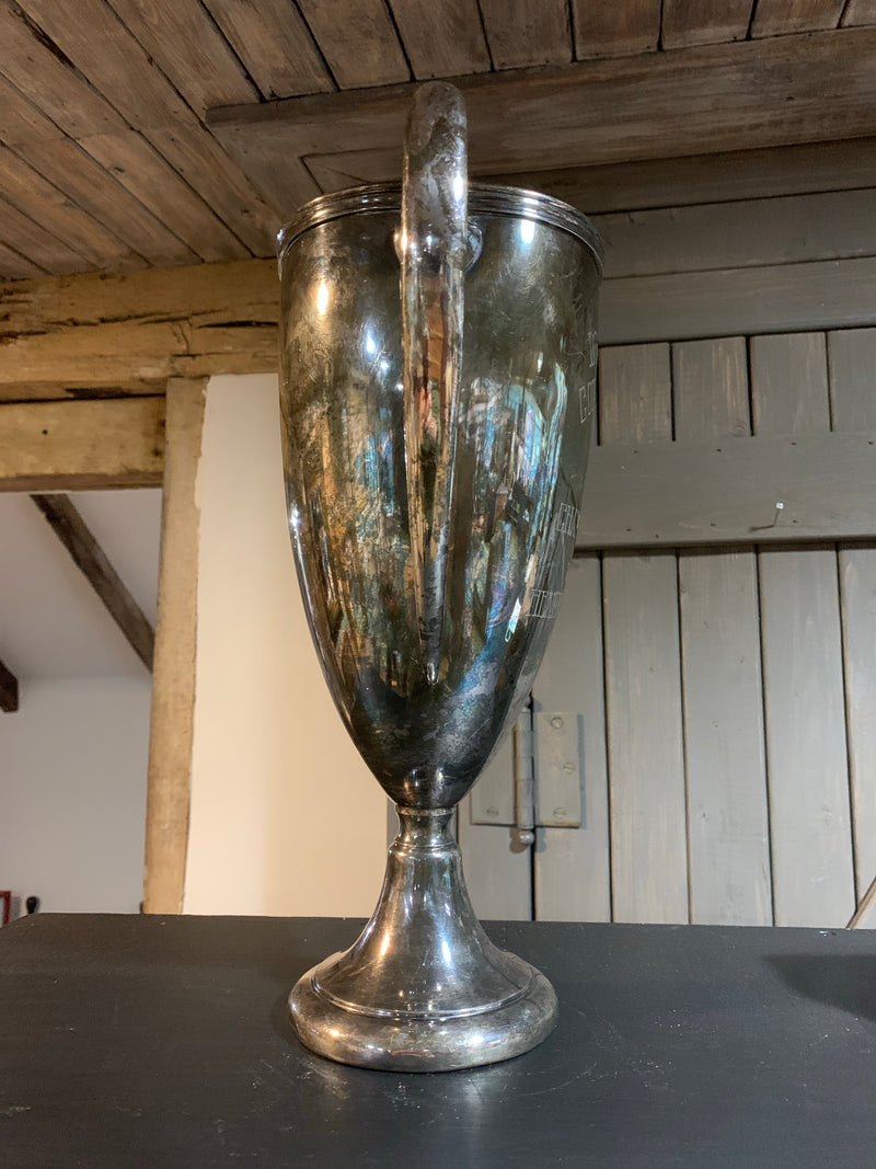 "Vintage 13.5"" Tall Wallace Trophy/Loving Cup"