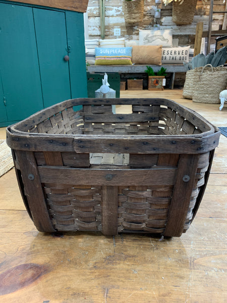 Vintage Rectangular Basket