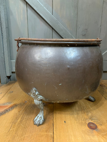 Vintage Copper Planter with Claw Feet