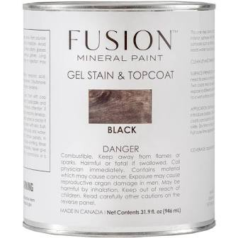 Fusion Mineral Paint - Gel Stain & Top Coat - Black