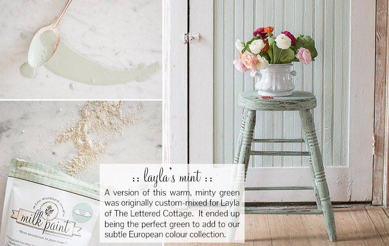 Miss Mustard Seed's Milk Paint Layla's Mint 1 Quart