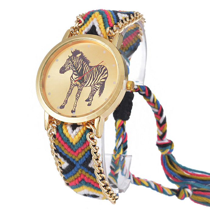 Luxury Quartz Zebra Bracelet Watch