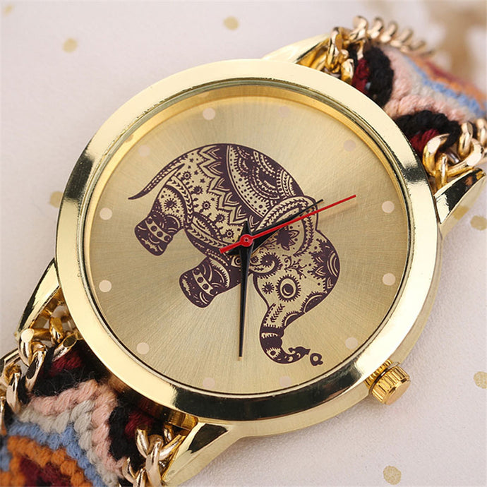 Luxury Quartz Baby Elephant Bracelet Watch