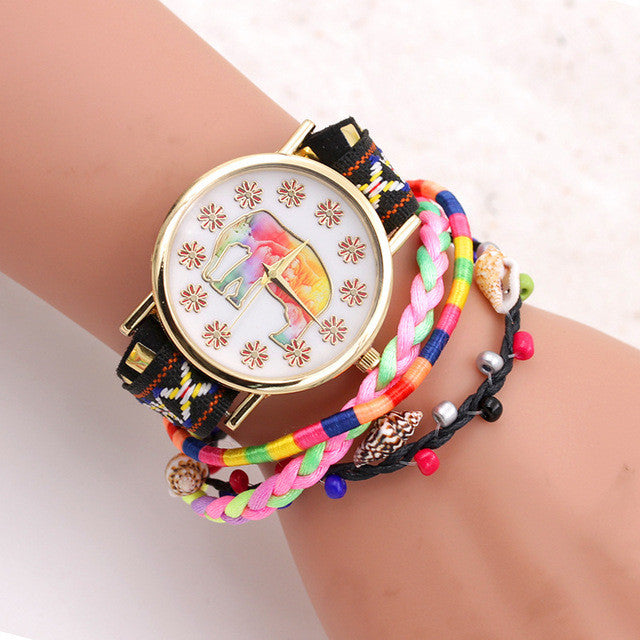 Luxury Quartz Elephant Bracelet Watch