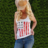 Women USA Flag Sleeveless Tank