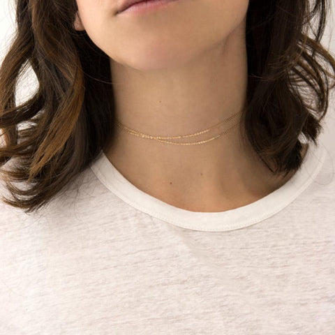 Simple Chain Silver Gold Necklace