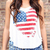 Women America Heart O-Neck Tank